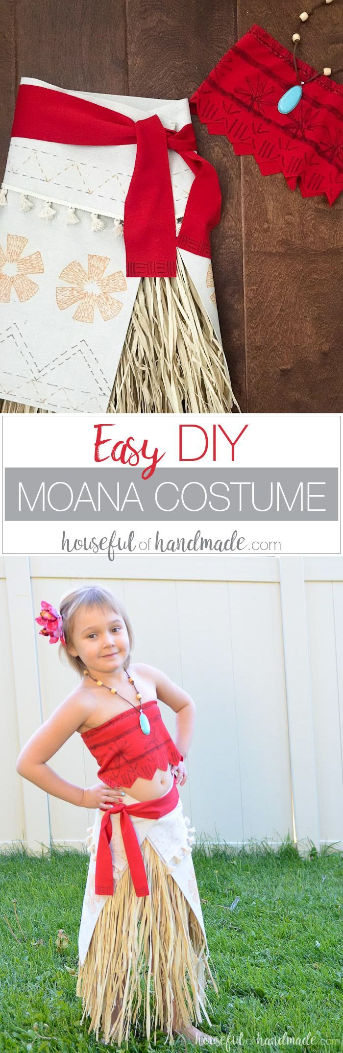 Easy DIY Moana Costume | Halloween costumes and Costumes