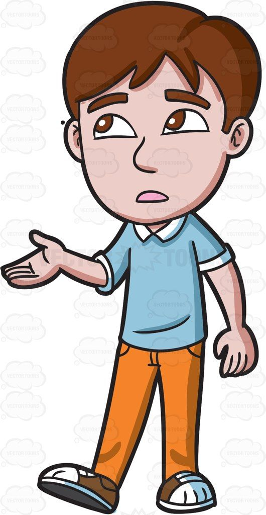A Teenage Boy Checking For Rain Teenage Boys Cartoon Clip Art Light Blue Shirts