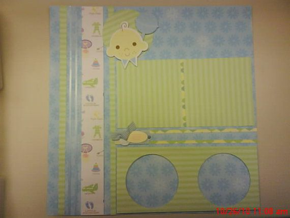 1 Premade Baby Boy 12 X 12 Scrapbook Layout You Pick The Title On