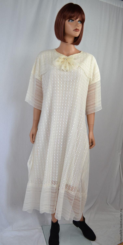 6e3581230f8 Платье бохо из вязанного кружевного полотна