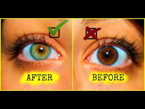 HOW TO CHANGE YOUR EYE COLOR | HOW TO GET GREEN EYES | 100