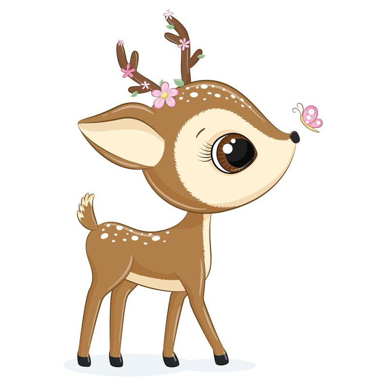 Mother And Baby Deer Clipart Png Eps Jpeg Baby Deer Clip Art Cute Animals Baby Deer Art Baby Animal Drawings Baby Deer