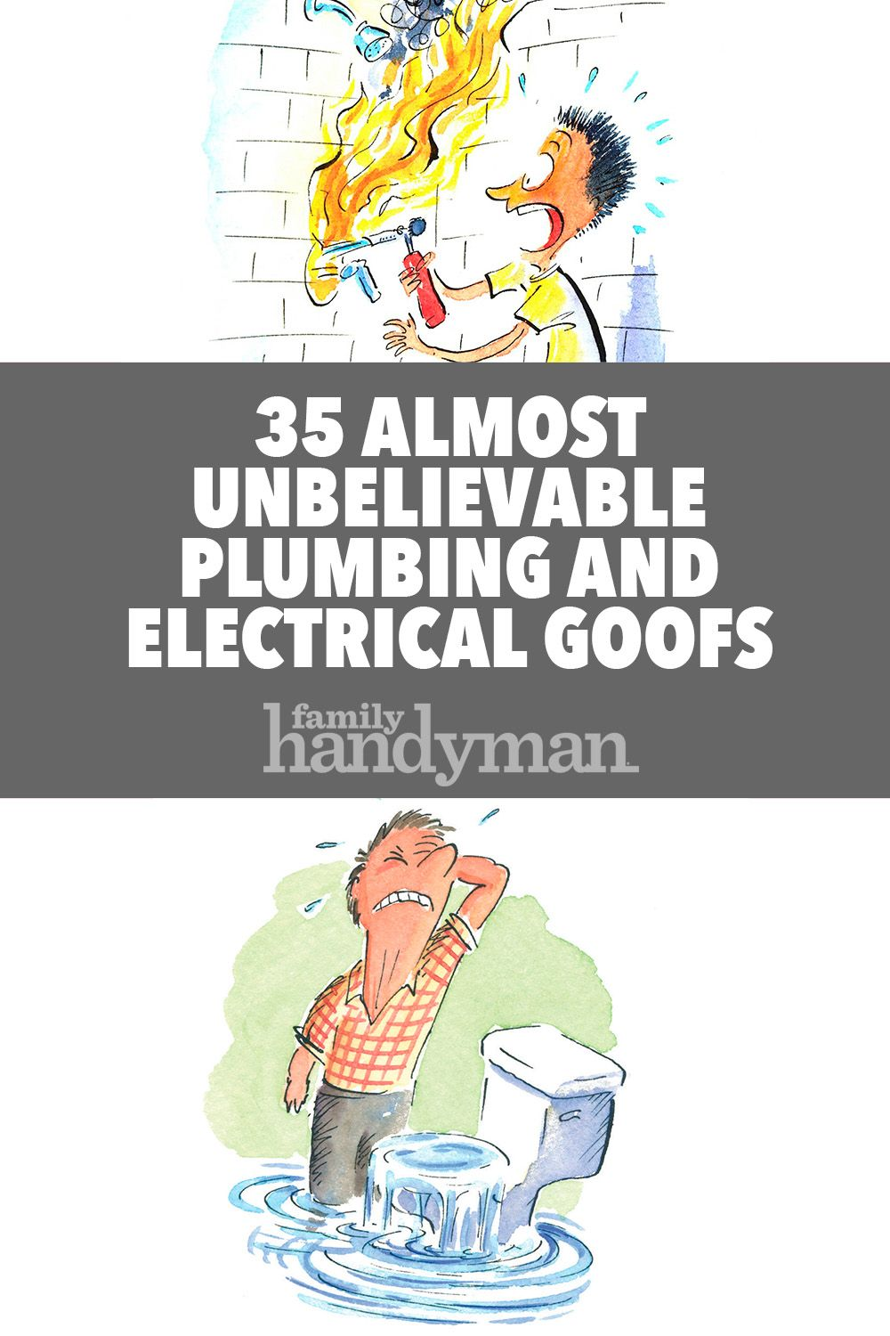 36 Almost Unbelievable Plumbing And Electrical Goofs Plumbing Electricity Goof
