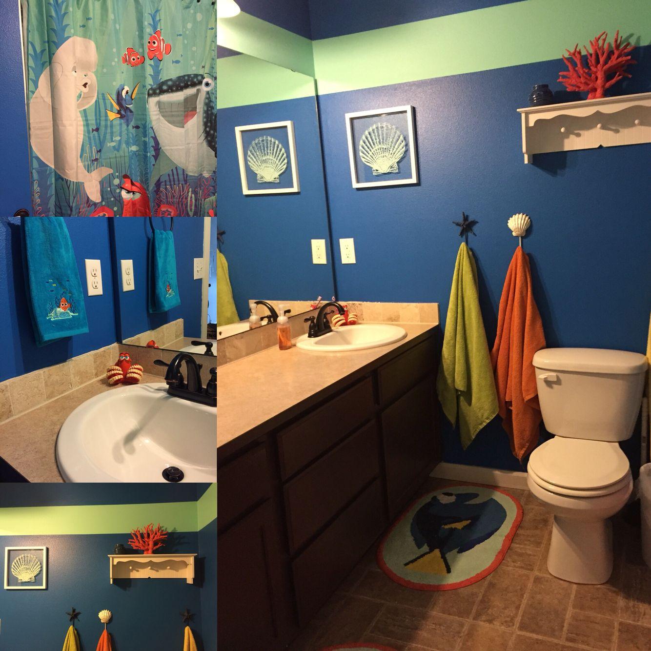 Finding Nemo Dory Bathroom Redo, Finding Nemo Bathroom Decor