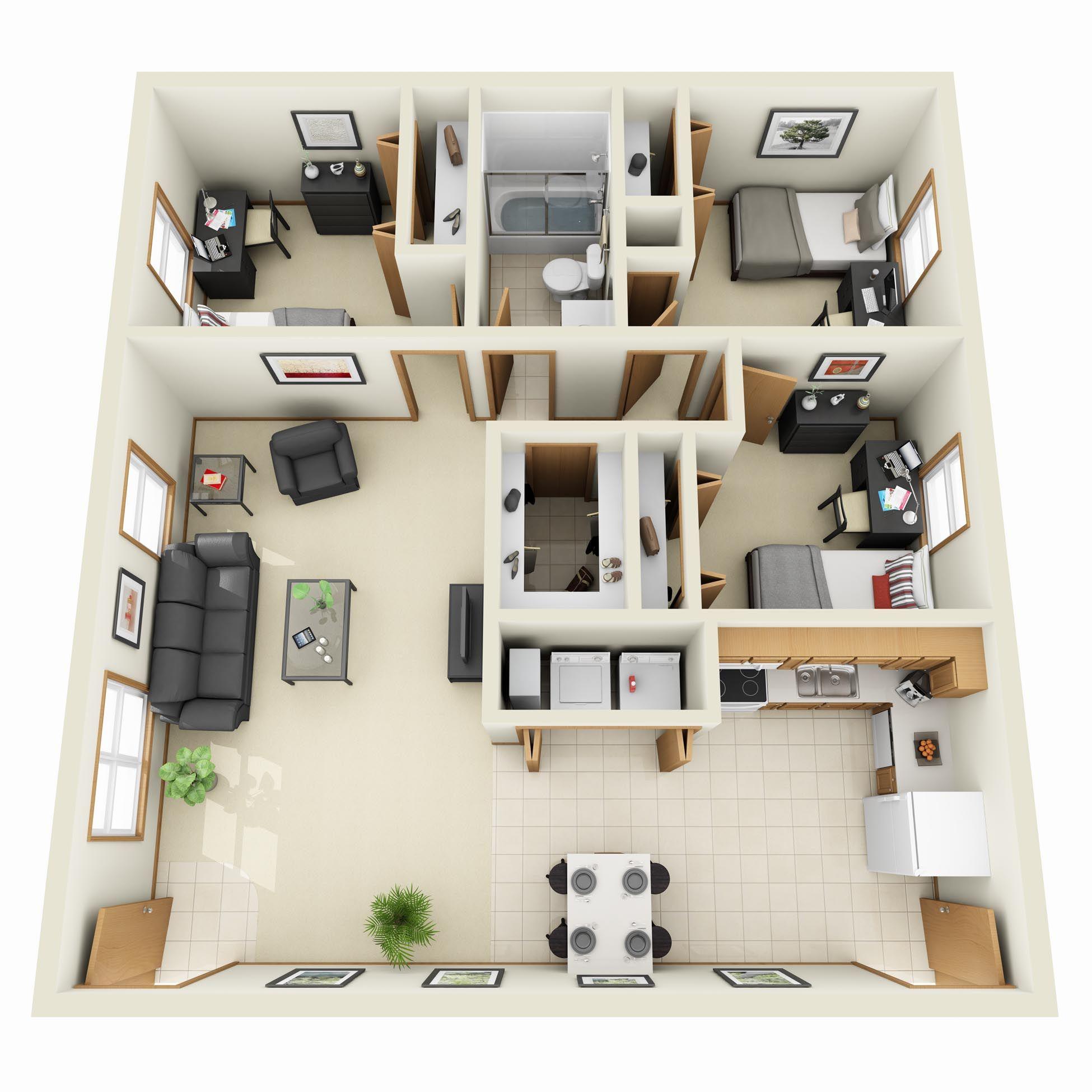 3d floor plan apartment google search house plans pinterest planos planos de casas y casas. Black Bedroom Furniture Sets. Home Design Ideas