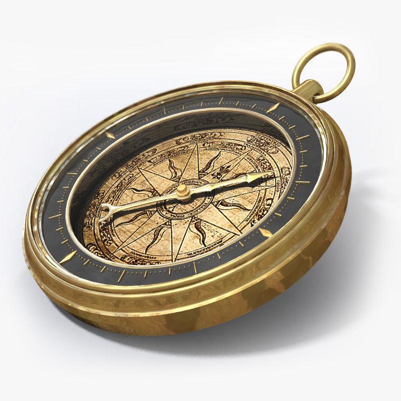 Antique Compass 3d Model Vintage Compass Compass Compass Design
