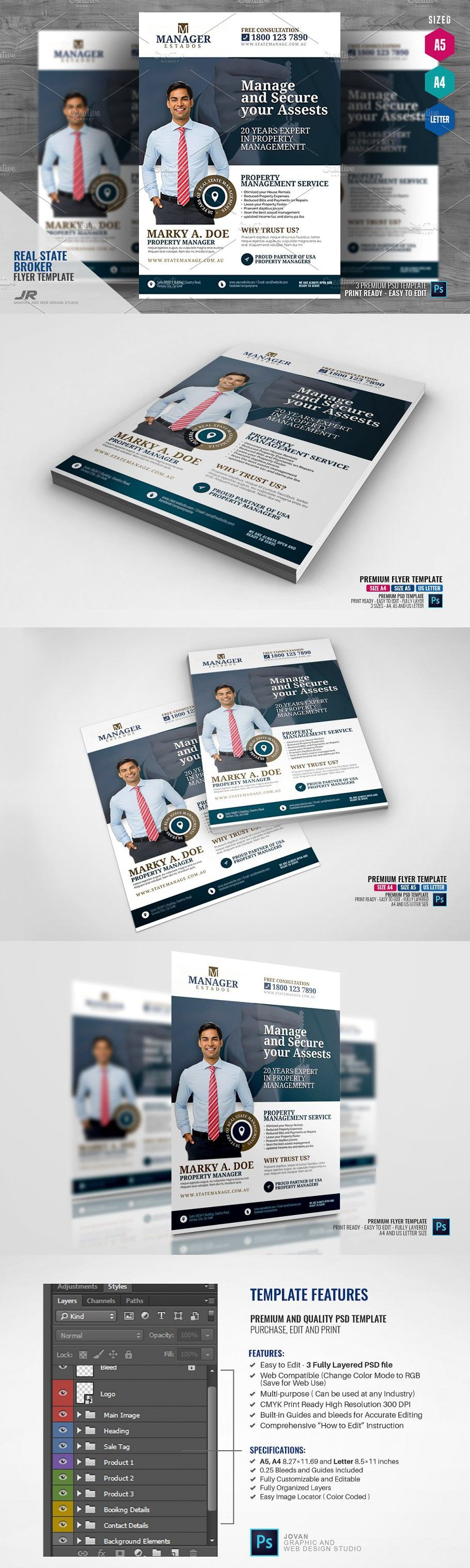 Property Management And Real Estate Property Management Flyer Design Templates Real Estate Flyers