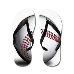 Baseball Graphic Flip Flops