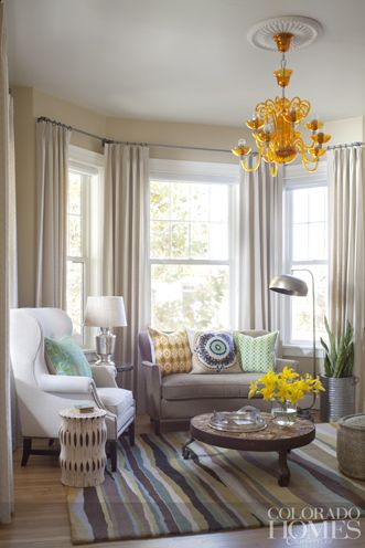 The Formal Dining Room Was Converted To A Casual Lounge Bay Window