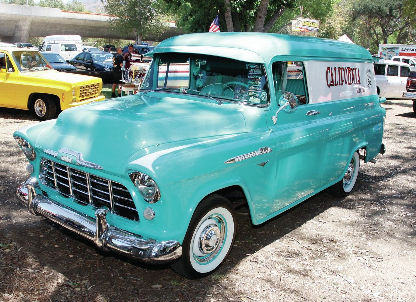 Truck 1948 chevy panel truck : 1956 Chevrolet Delivery panel truck | Panel Trucks | Pinterest ...