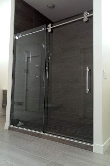 Double Roller Galileo Style Barn Slider Shower Doors Barn Style Sliding Shower Door