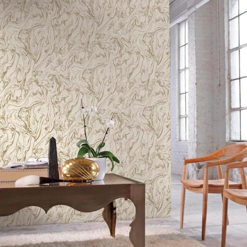 Roommates 28 2 Sq Ft Gold Vinyl Trail Self Adhesive Peel And Stick Wallpaper Lowes Com Decor Peel And Stick Wallpaper Home Decor