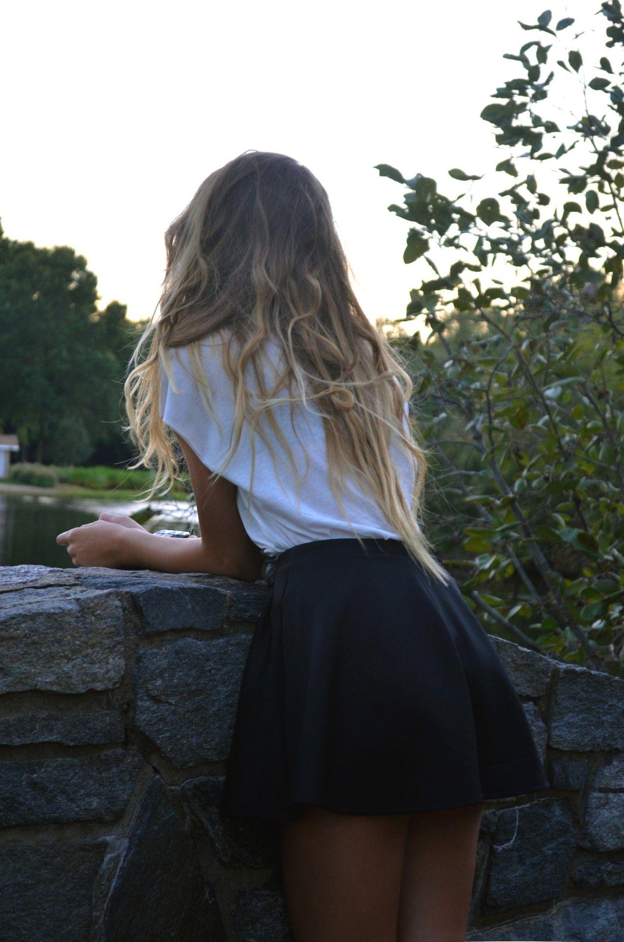 perfect outfit/hair #blonde #hair #pretty