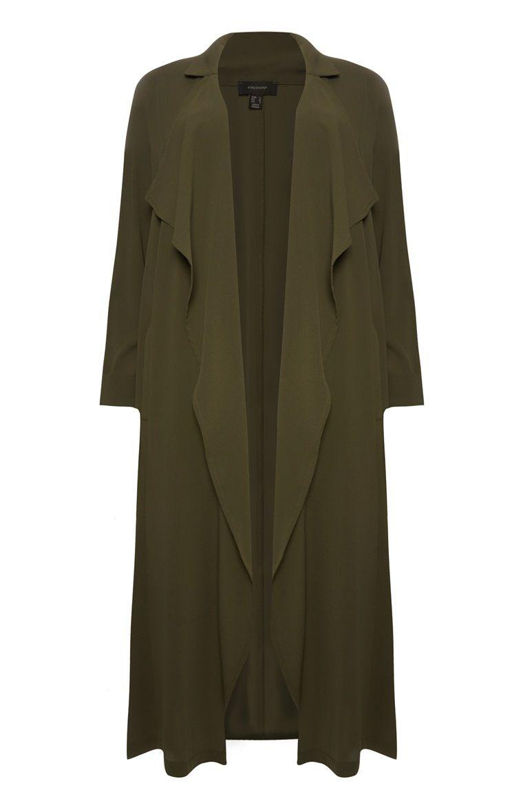 Primark - Khakifarbener, langer Mantel | haben will ...