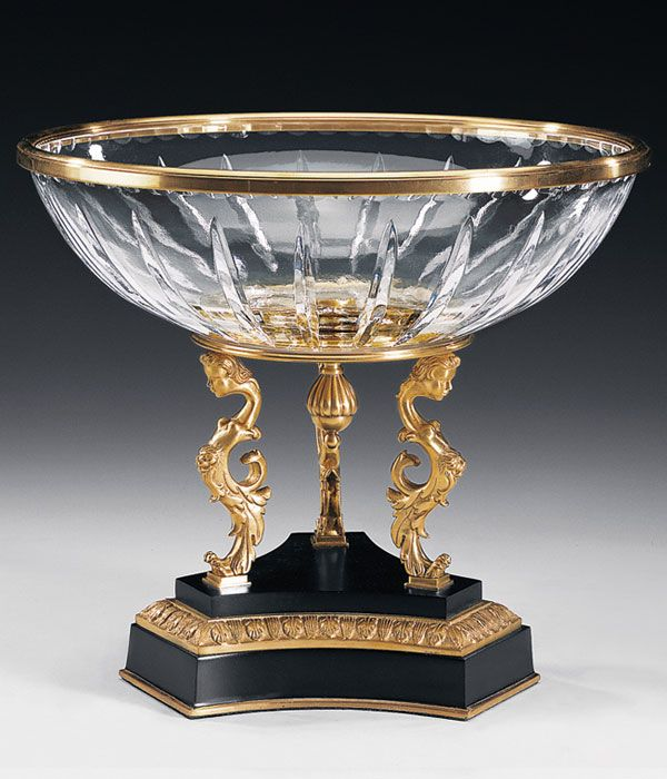 Cut Crystal Bowl With Decorative Stand Crystal Home Accessories Magnificent Decorating With Crystal Bowls