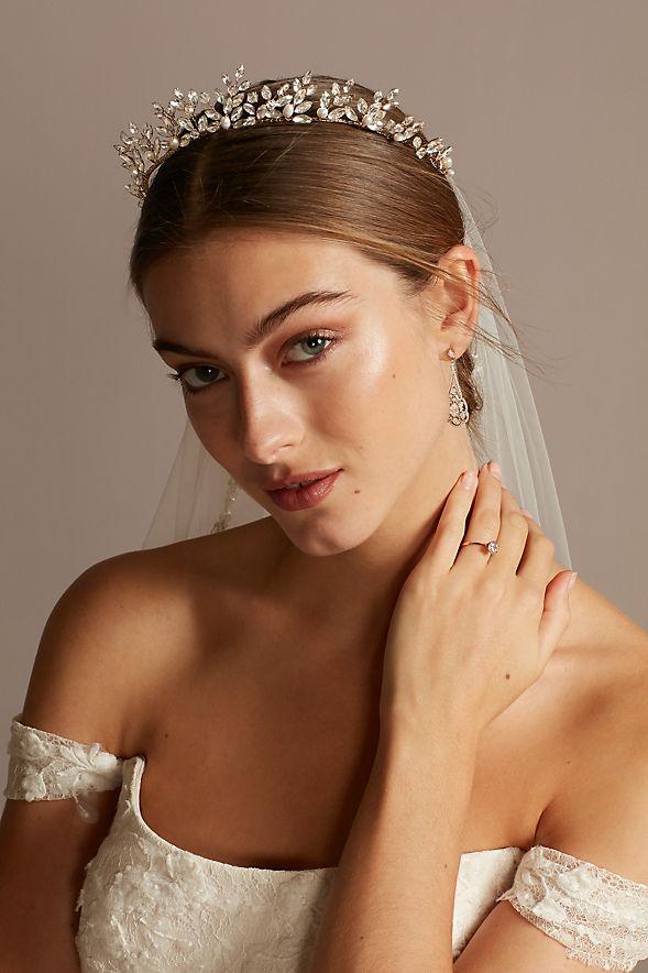 Crystal Pearl Bridal Headpiece Vintage Bridal Headpiece Freshwater Pearl Bridal Headpiece Romantic Bridal Headpiece Bridal Jewelry
