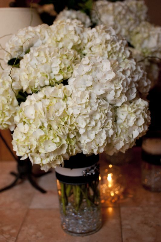 Loving this lush diy centerpiece of hydrangeas mr and mrs flower loving this lush diy centerpiece solutioingenieria Choice Image