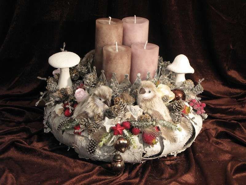 adventskranz verschneite v gel von fleuromantic auf. Black Bedroom Furniture Sets. Home Design Ideas