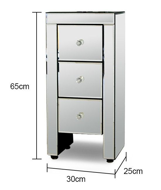 Mirrored 160 In 2019 Mirror Bedside Table Furniture