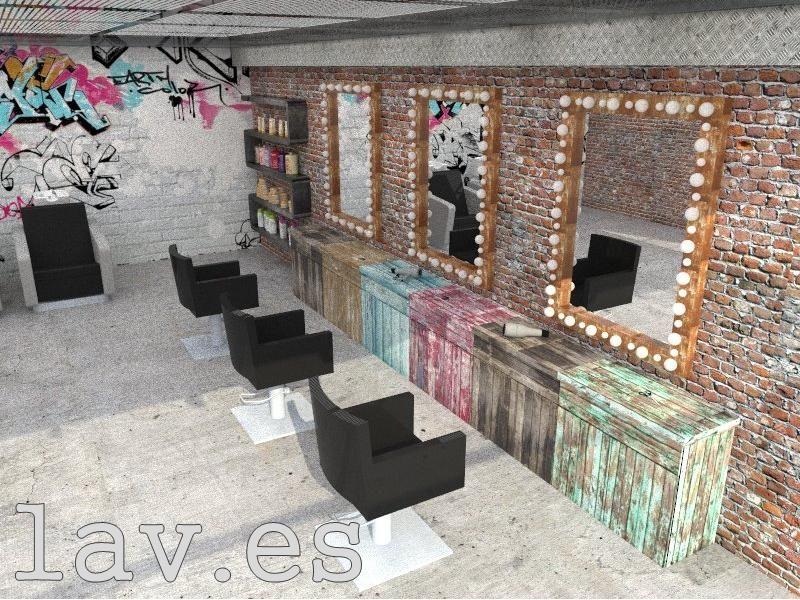 Resultado de imagen para decoracion de peluquerias vintage for Decoracion en peluquerias