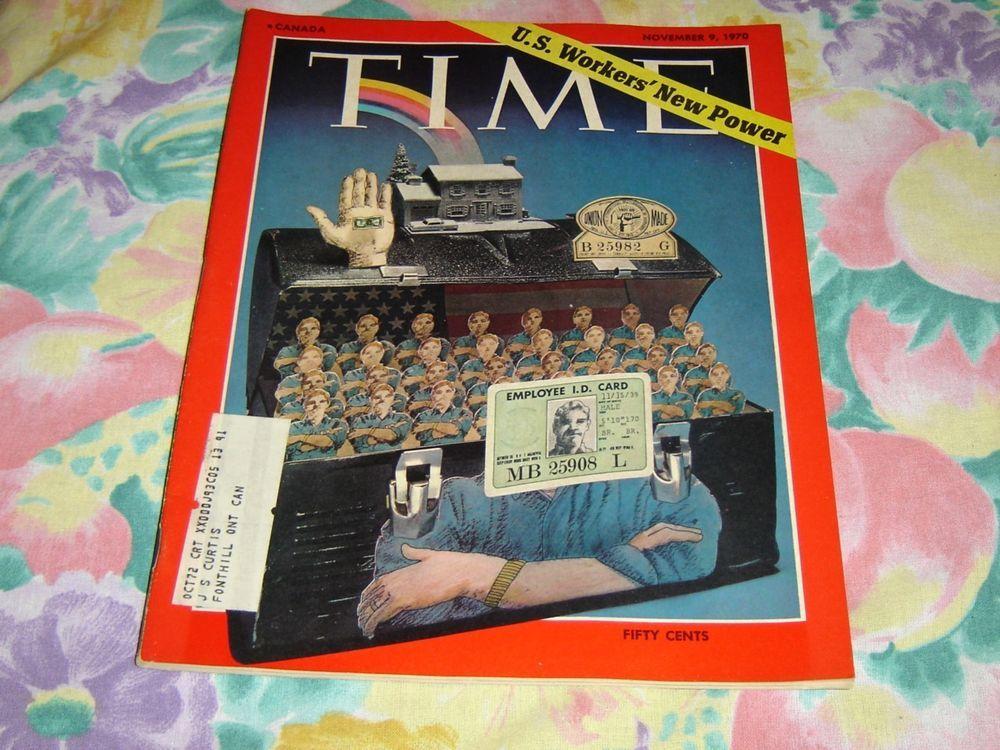 Vintage Time magazine November 9 1970 like new