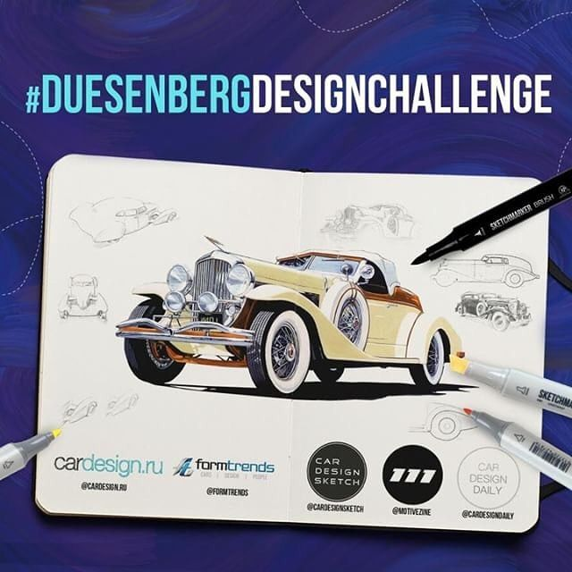 Ladies and gentlemen  Sharpen your pencils open your markers and switch on your graphic tablets: @formtrends is pleased to announce the #DuesenbergDesignChallenge in partnership with @cardesign.ru @cardesigndaily @cardesignsketch and @motivezine!  Unleash your fantasies express your talent and show us the Duesenbergs of your dreams. Any era any body style any powertrain  everything is up to you.  Please add the hashtag #DuesenbergDesignChallenge and tag us in your creations!  Let the Duesey spir