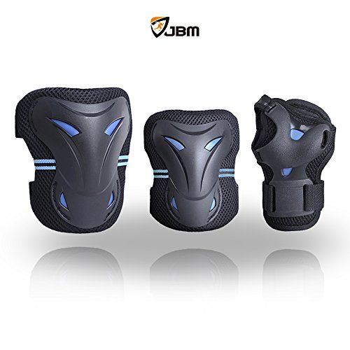 BMX Bike Knee Pads and Elbow Pads with Wrist Guards Protective Gear Set