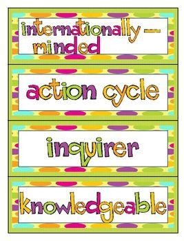 IB Primary Years Programme Word Wall | Teachers Pay Teachers | Ib