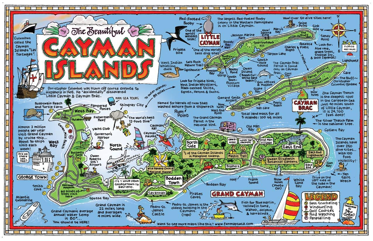 picture regarding Printable Map of Grand Cayman referred to as Pictorial map of the Cayman Islands Holidays and Recommendations