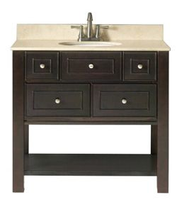 New Bathroom Vanity  Our Master Bath Had A Bad Water Leak And We Custom Bathroom Vanities At Lowes Design Ideas