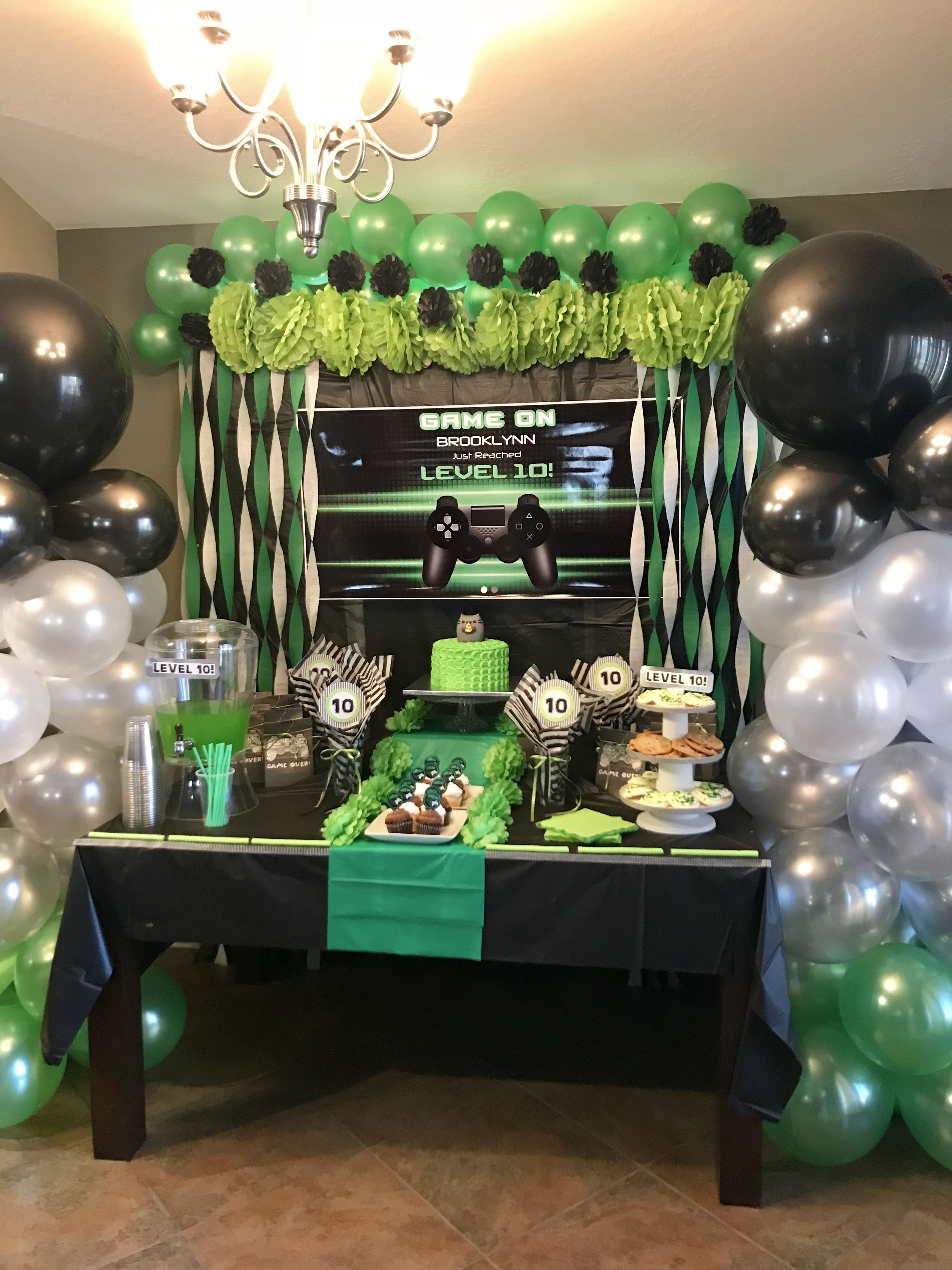 Xbox Party Video Game Birthday Party Decorations Xbox Party Xbox Birthday Party