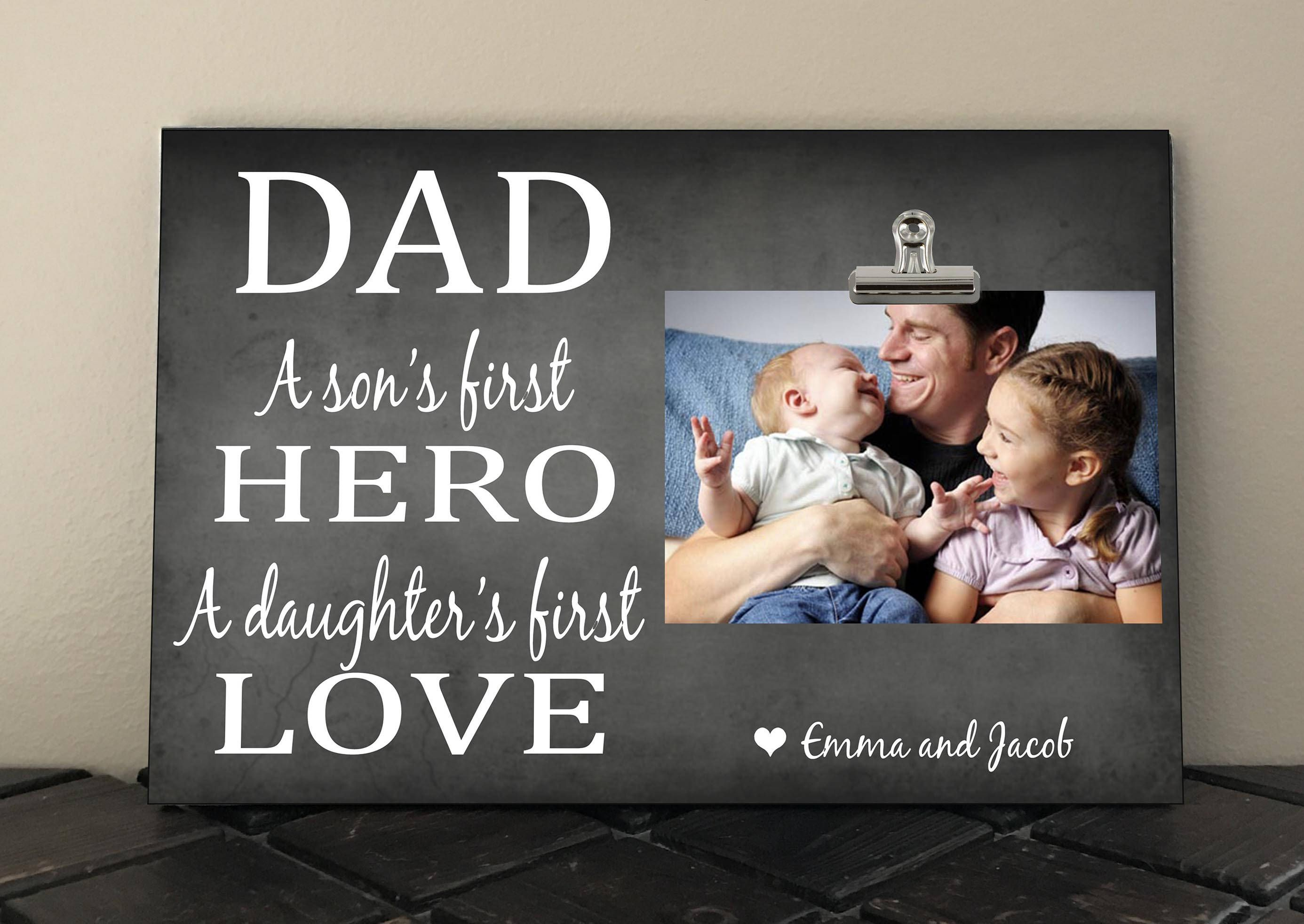 DAD a Son\'s First HERO a Daughter\'s First LOVE, Perfect for Fathers ...