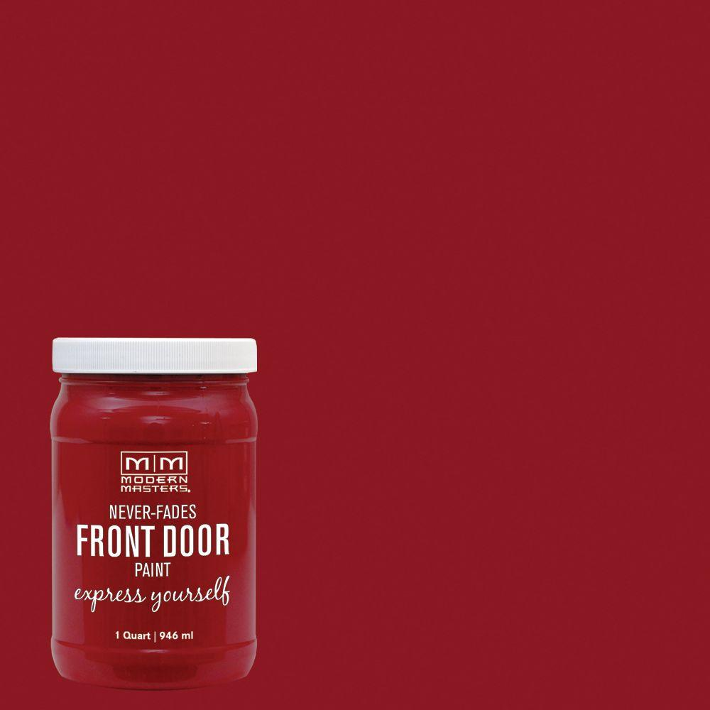 Modern Masters Express Yourself 1 qt. Satin Sophisticated Red Water-Based Front Door Paint-275264 - The Home Depot