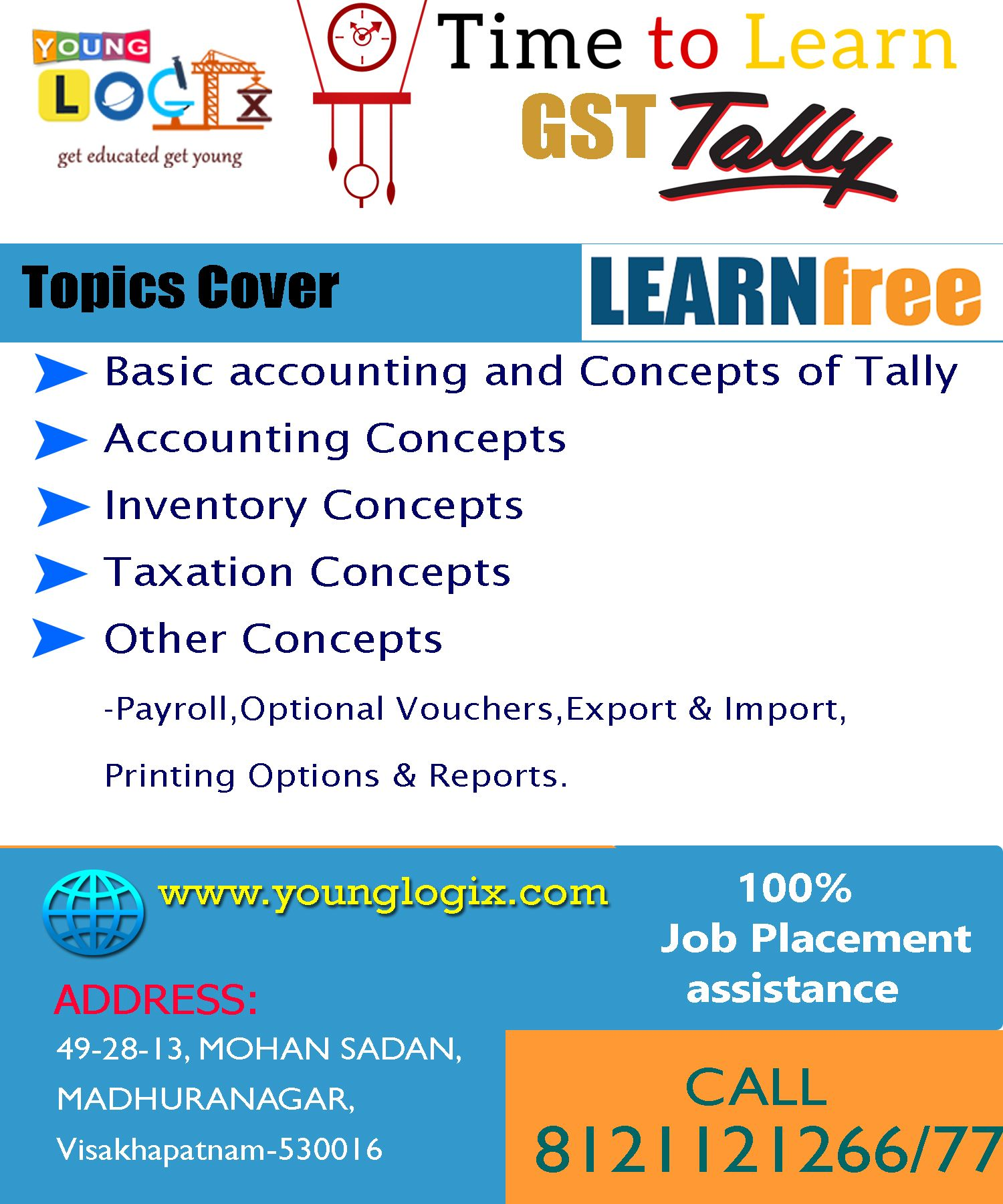 Young Logix Provide Free Tally Course On Latest ERP 9 Version In A Scientifically DesignedIt Is Complete Accounting Software Learning Platform