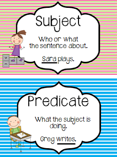 Subject and Predicate Freebie