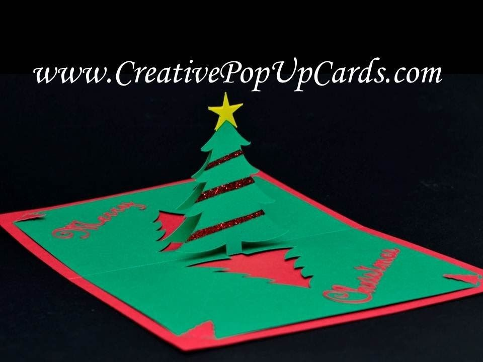 Easy Christmas Tree Pop Up Card | Christmas Crafts | Pinterest ...