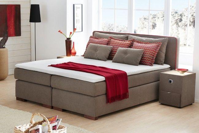design boxspringbett palermo 180x200 cm taupe hotelbett federkern ideen pinterest. Black Bedroom Furniture Sets. Home Design Ideas