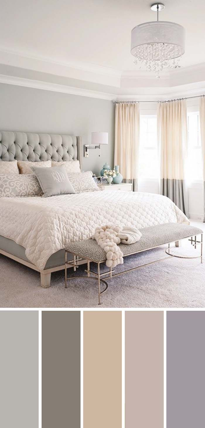 20 Beautiful Bedroom Color Schemes #graybedroom