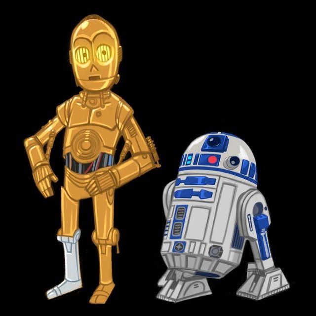 R2d2 And C3po In Movie R2-D2 and C3PO #art #s...