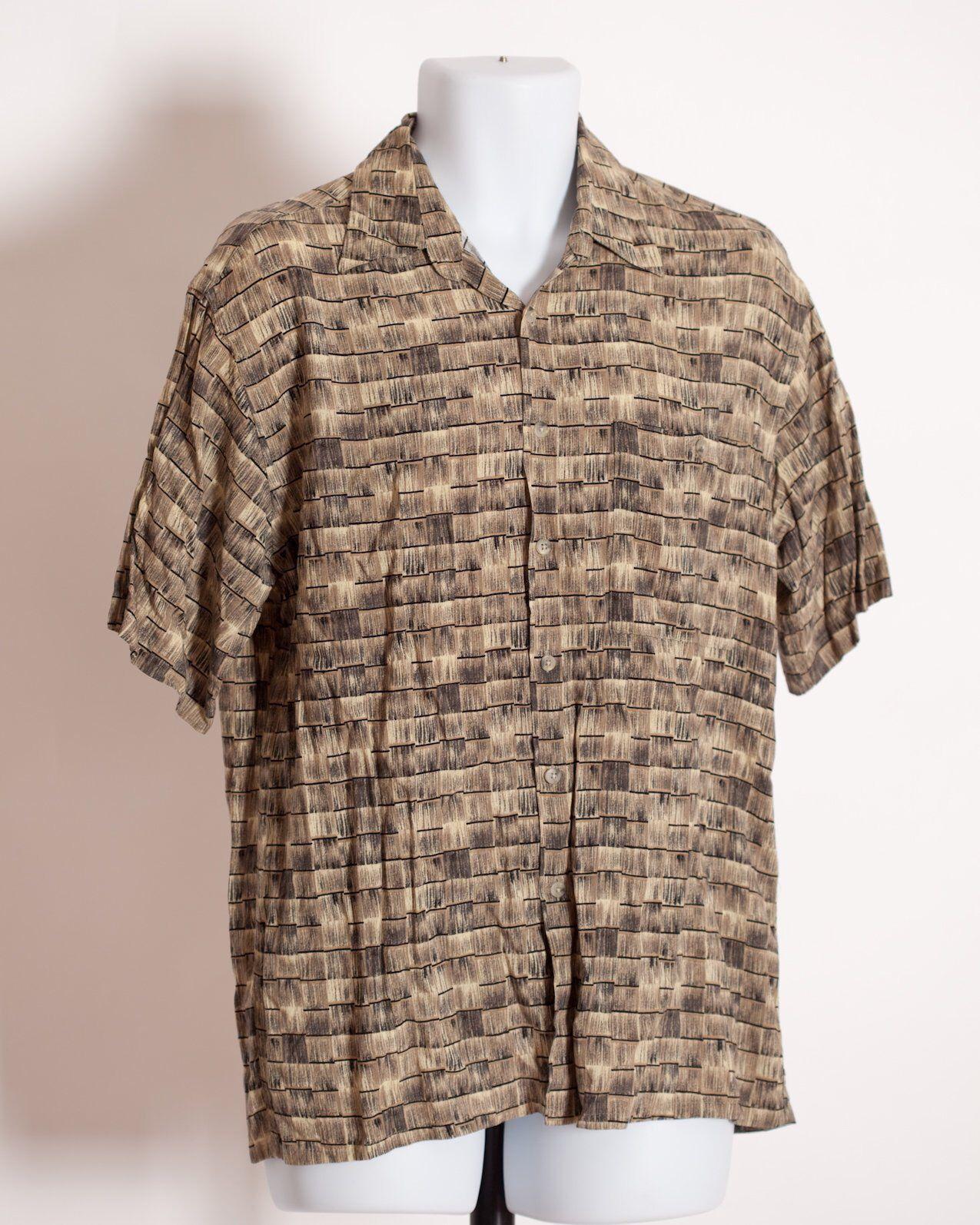 3002a738 Vintage 80s 90s Men's Short Sleeve Button Shirt - Corsini - M | GWV ...
