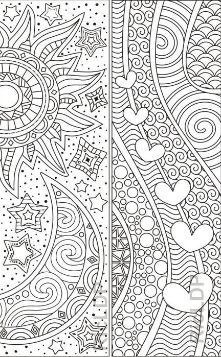 Abstract Design Coloring Bookmarks – Coloring Mandalas