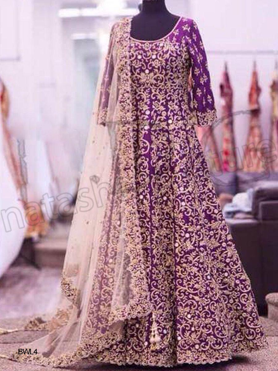 Designer anarkali dark pinkindian wear desi fashion natasha