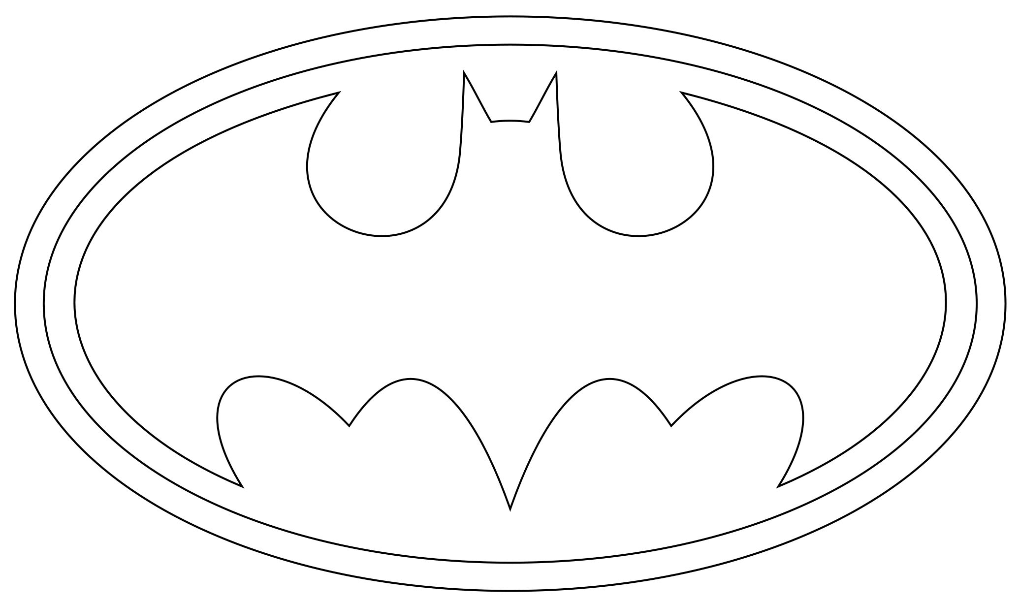 Old Fashioned image intended for free printable batman logo coloring pages