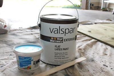 Outdoor Chalkboard Paint Recipe