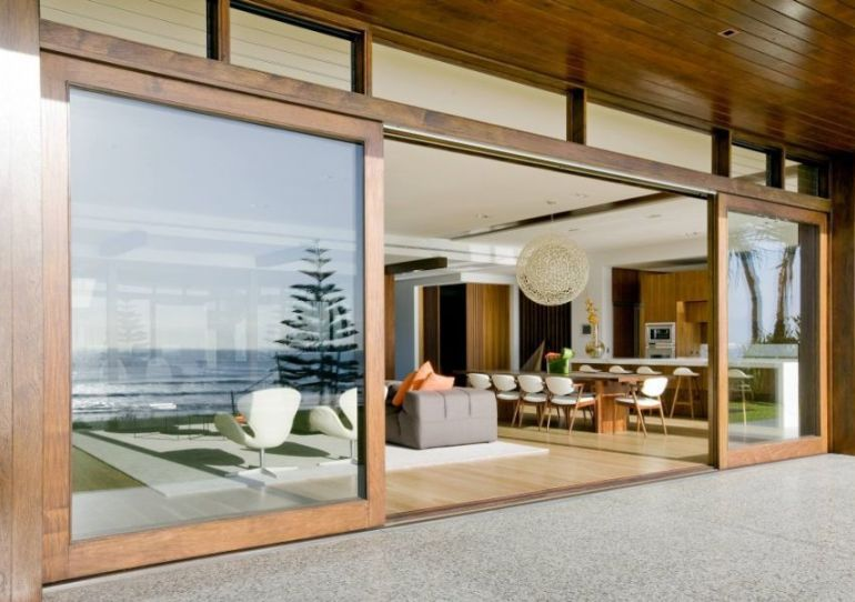 Superbe Large Patio Doors   Large Sliding Glass Doors With Wooden Frame Decoist  Patio