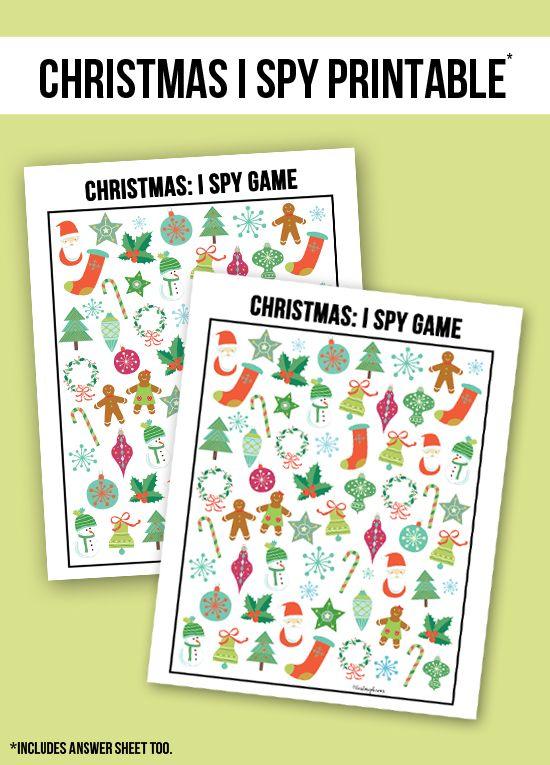 It is an image of Fabulous Christmas I Spy Printable