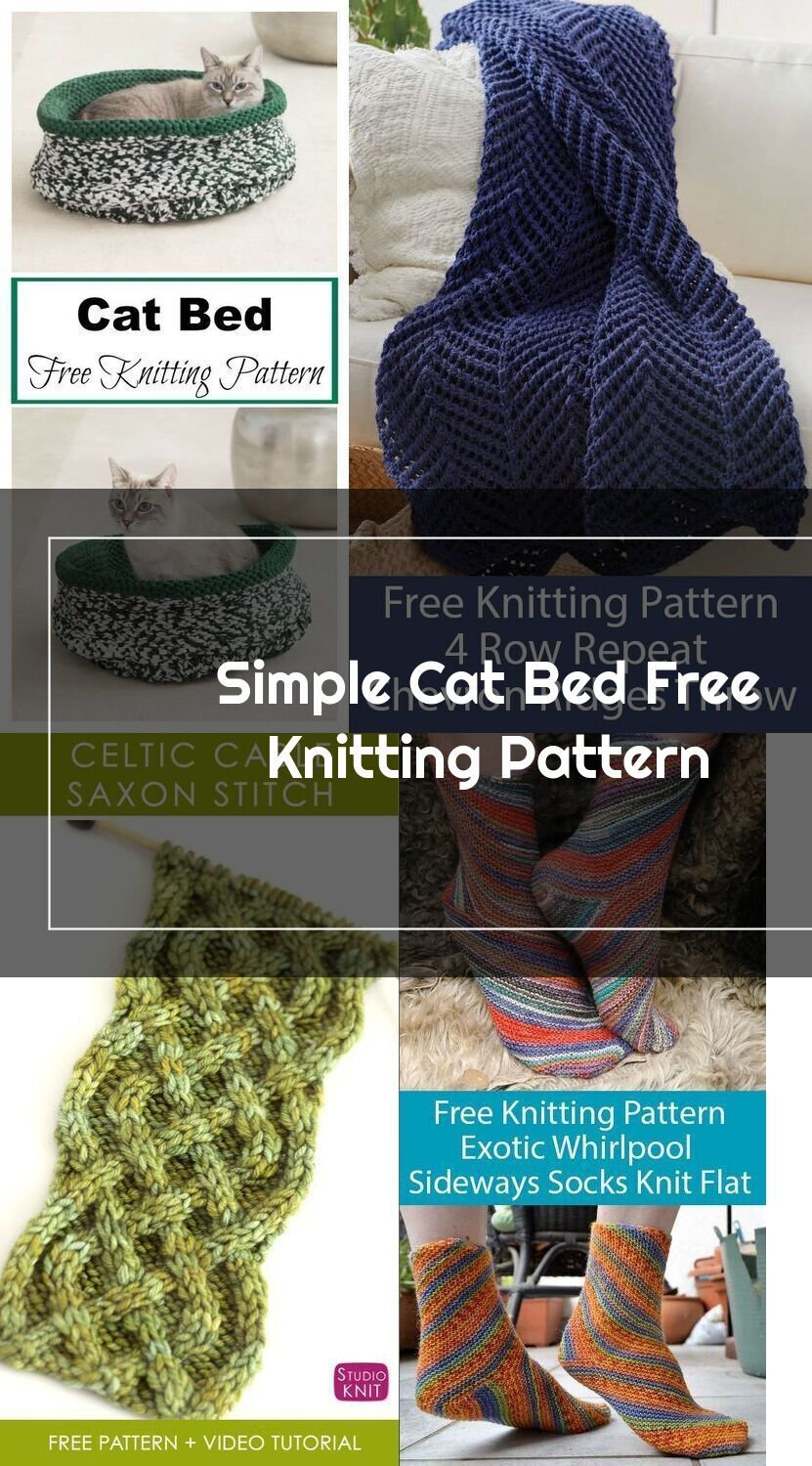 Simple Cat Bed Free Knitting Pattern # ...