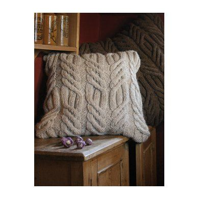 Rutland Cushion In Rowan British Sheep Breeds Chunky Undyed