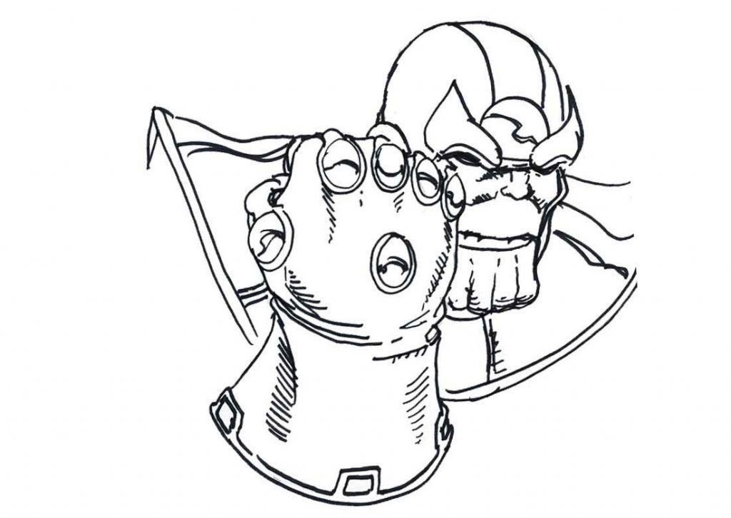 Thanos Coloring Pages Avengers Coloring Pages Kids Printable