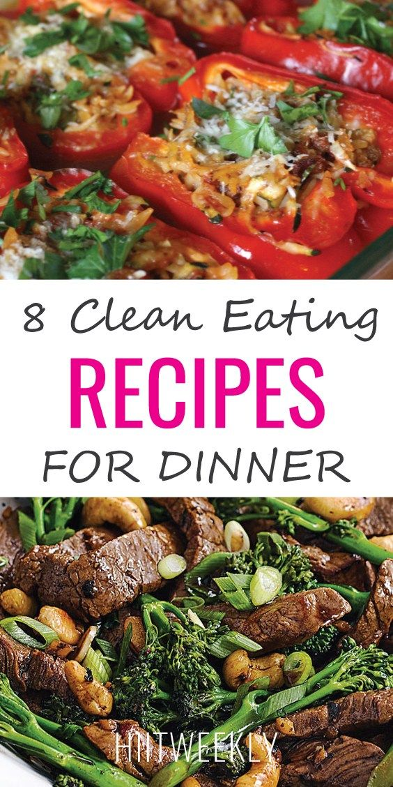 8 Clean Eating Recipes for Dinners images